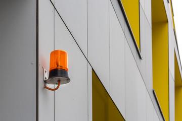 Sicherheit Signalleuchte am Gebäude