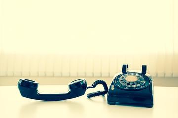 old retro telephone
