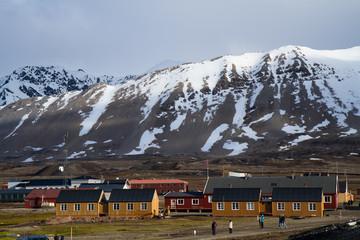 Foto auf AluDibond Arktis ny alesung in the svalbard island near north pole