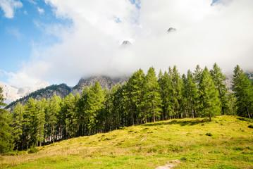 Mountain peaks in Slovenian Alps