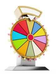 Wheel of fortune. 3D illustration