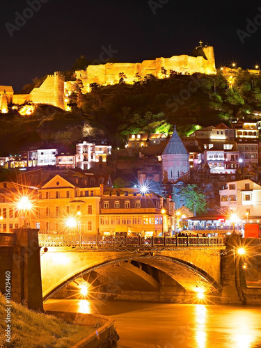Fototapete  Tbilisi Old Town at night