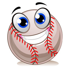 Vector Illustration of Baseball Mascot Smiling