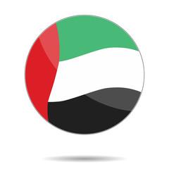 A United Arab Emirates flag. Flat icon. Eps10. Vector illustrati