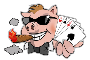 Funny poker player