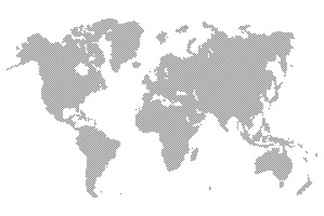 Search photos world map vector gray dotted world map isolated on background blank point templa sciox Gallery