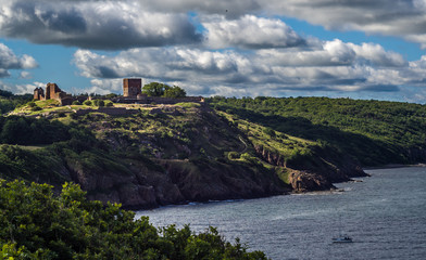 the castle ruin Hammershus on the northern part of Bornholm in denmark