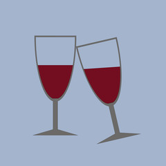 Glasses of wine and Vector.