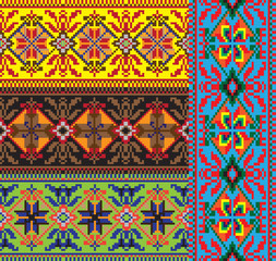 national embroidery Slavic peoples set