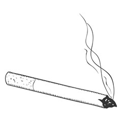 Vector Single Sketch Cigarette with Filter