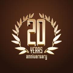 20 years anniversary vector logo, icon