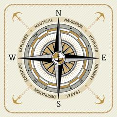 Nautical vintage compass 03