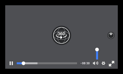 360 Degree Media player interface