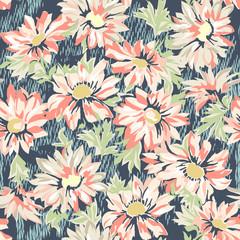 pretty daisy print - seamless background
