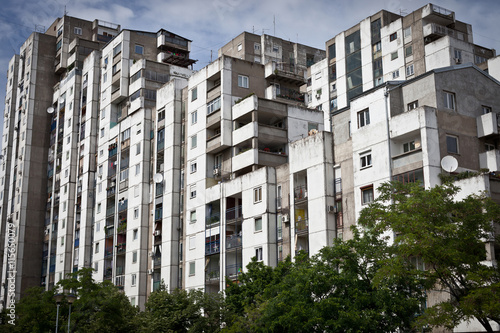 Run Down Apartment Building Complex In Serbia
