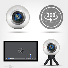Virtual Reality 360 Media player interface