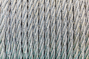 Pattern of steel cables