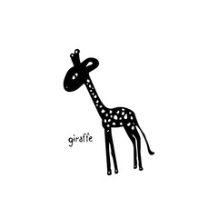 Abstract silhouette of a giraffe