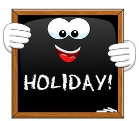 Holiday Cartoon Blackboard isolated