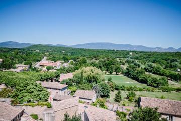 Le village de Grignan vu du château
