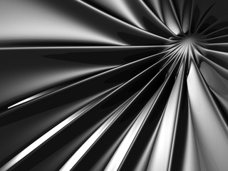 Abstract Silver Glossy Dark Background