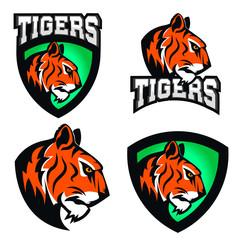 Tigers. Sport team or club logo template.