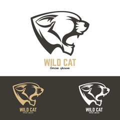 wild cat. Vector design element