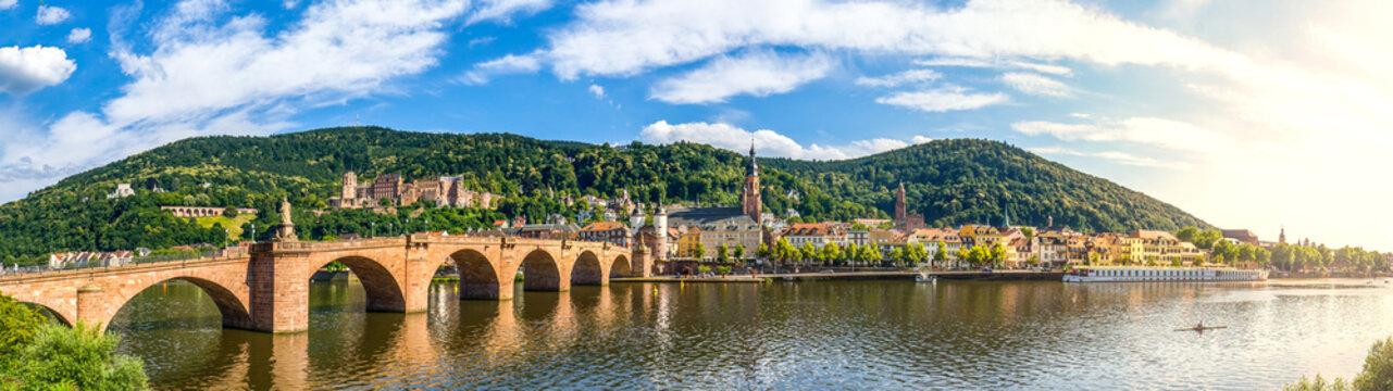Heidelberg Panorama, Schloss und Alte Brücke