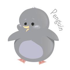 Penguin. Marine animals. Child fun icon.