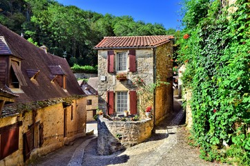 Fotomurales - Picturesque corner of the beautiful Dordogne village of Beynac, France