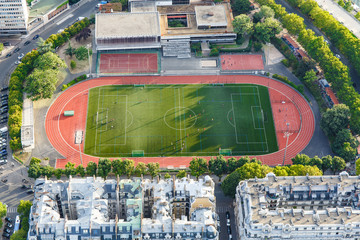 Football field. Aerial view