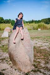 Fillette dans le Jardin des 9 Damoiselles et la Bambouseraie de Vaison-la-Romaine