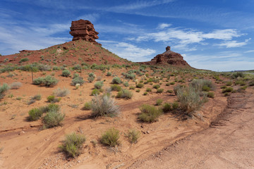 Landscape and country trails in the US state of Utah