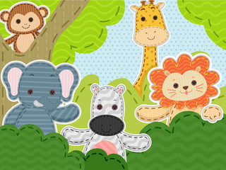 Stitched Animals Jungle
