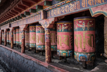 Kora Prayer wheels
