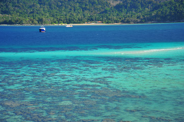 Beach on Tropical Islands at Summer Season