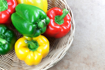 three color bell peppers