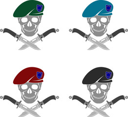 set of sign of special forces of EU. vector illustration