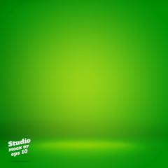 Vector,Empty vivid lighting green studio room background ,Templa