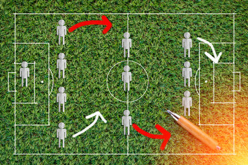 The tactic game of the football stretegy