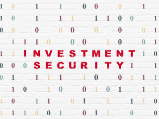 Safety concept: Investment Security on wall background