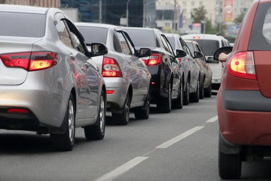 Автомобильная пробка, затор