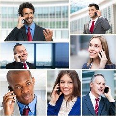 Business people talking on the phone