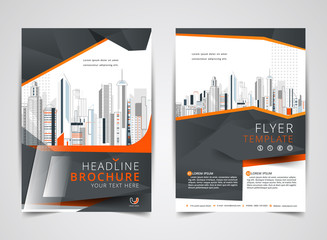 Annual report brochure flyer design template vector, Leaflet cover presentation of building background, layout in A4 size