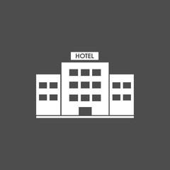 Hotel icon dark background