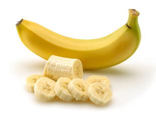 Banana with sliced banana