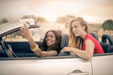 Selfie inside the car
