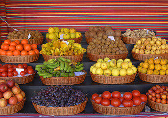 Fruits in market, Funchal, Madeira, Portugal