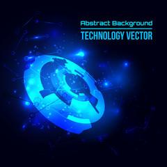 Abstract techno background for futuristic high tech design - vector