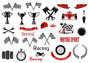 Design elements for motosport and racing